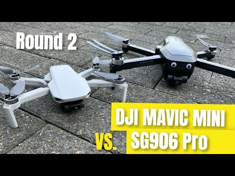 DJI Mavic Mini vs. SG906 Pro Beast Drone Video Vergleich (best drones 2020)