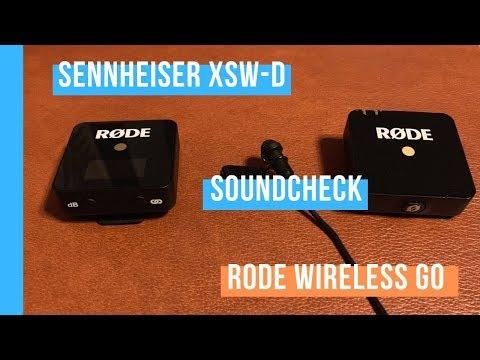 Soundcheck Sennheiser xsw-d vs RODE Wireless Go Lavalier Mikrofon