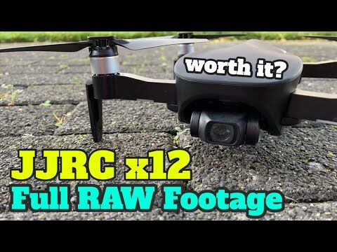 JJRC x12 footage test - JJRC x12 Aurora has same video as an Eachine EX4 drone or CFLY Faith