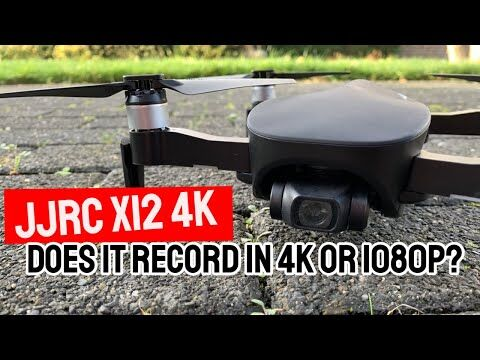 Does JJRC x12 4k record video in 4k or 1080p quality?!
